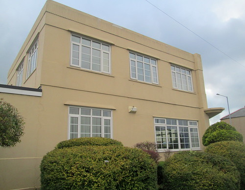 Side View, Art Deco House in Flint, North Wales