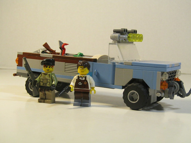 Hal and Larry with their truck.