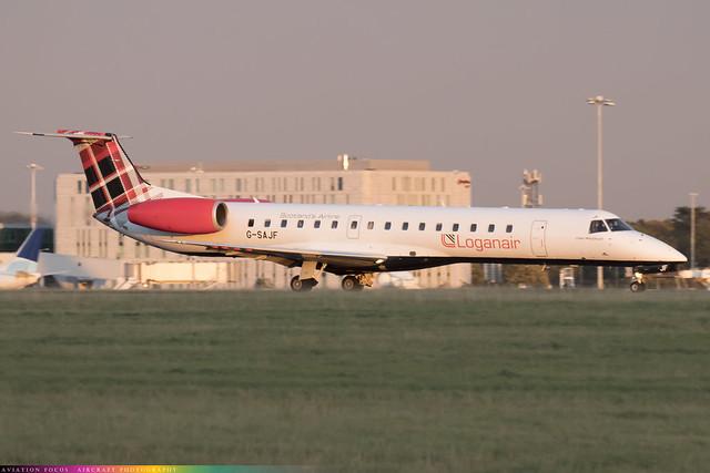 G-SAJF  -  Embraer ERJ-145 EP  -  Loganair  -  STN/EGSS 9/10/20