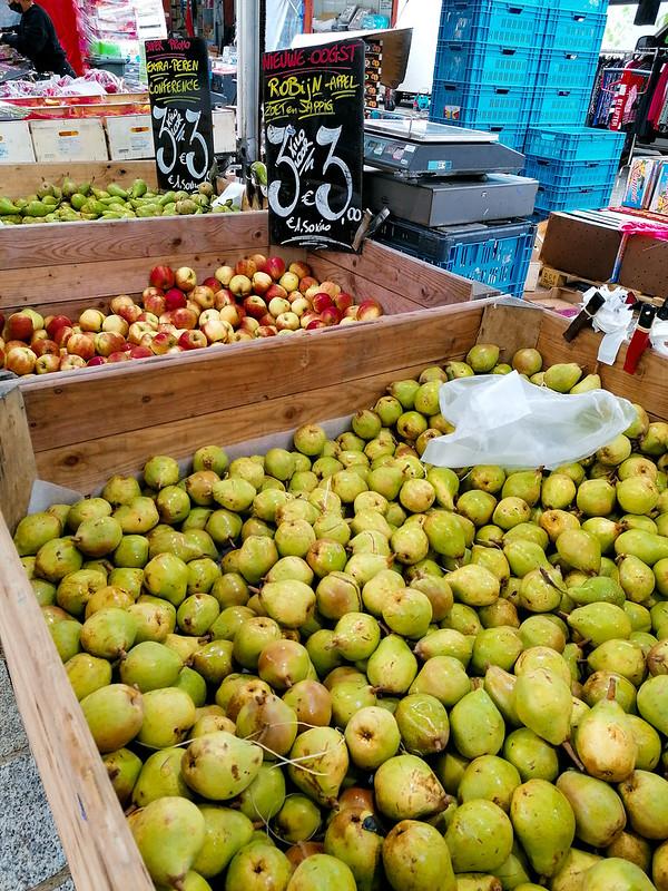 Fruta en el mercado de Brujas