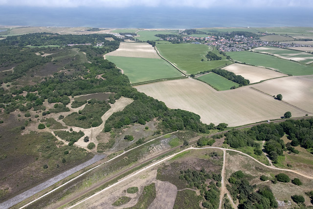Above the Poppy Line or North Norfolk Railway - looking towards Weybourne - Norfolk aerial image