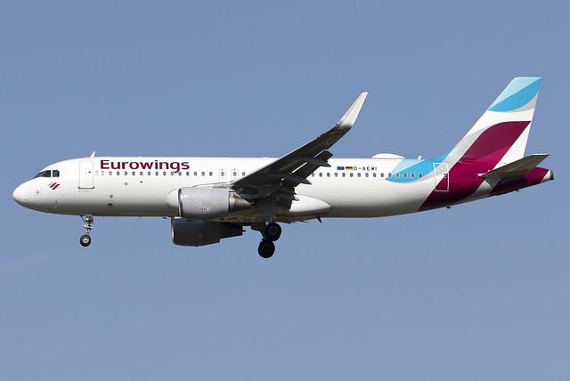 Eurowings A320 D-AEWI at Heathrow Airport LHR/EGLL