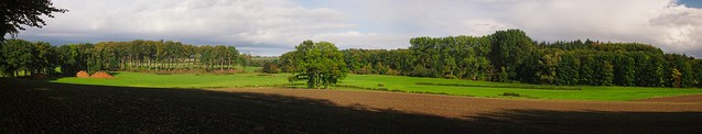 Freehand panoramic autumn landscape   October 10, 2020   In the district of Plön - Schleswig-Holstein - Germany