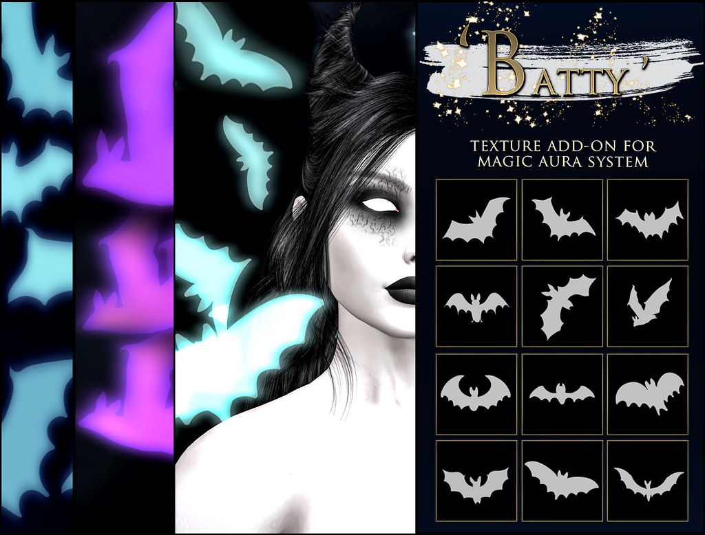 -Elemental - ' Batty ' Texture Addon For Magical Aura Advert