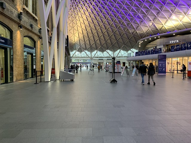 King's Cross station, Saturday 10th October 2020.