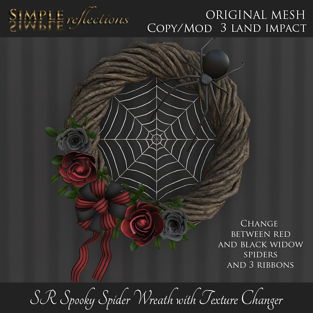 SR Spooky Spider Wreath with Texture Changer