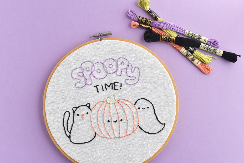 Spoopy Time Embroidery Pattern