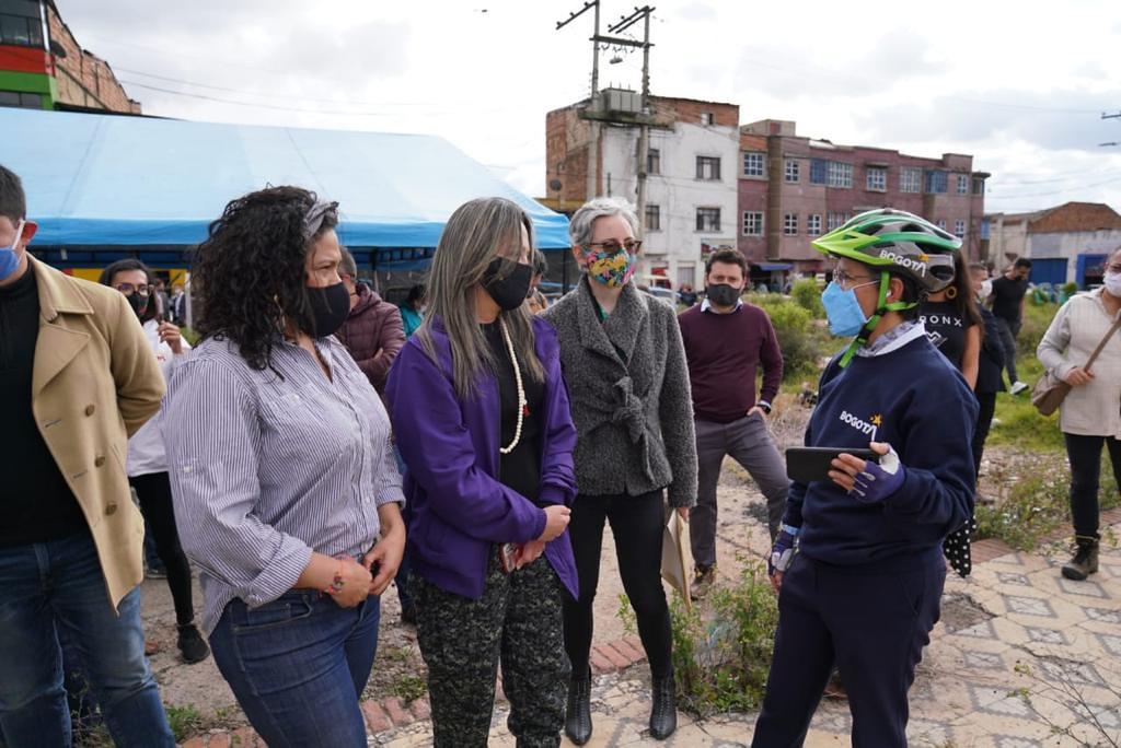 Recorrido de la Alcaldesa de Bogotá Claudia López en el BDC
