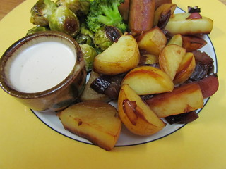 Roasted Potatoes with White BBQ Sauce