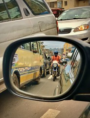 Freetown Traffic Through The Rear View Mirror