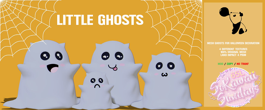 👻[B.G] Little Ghosts Decor👻