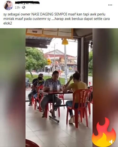 Founder Buat Live Di Restoran Kena Simbah Air Sirap