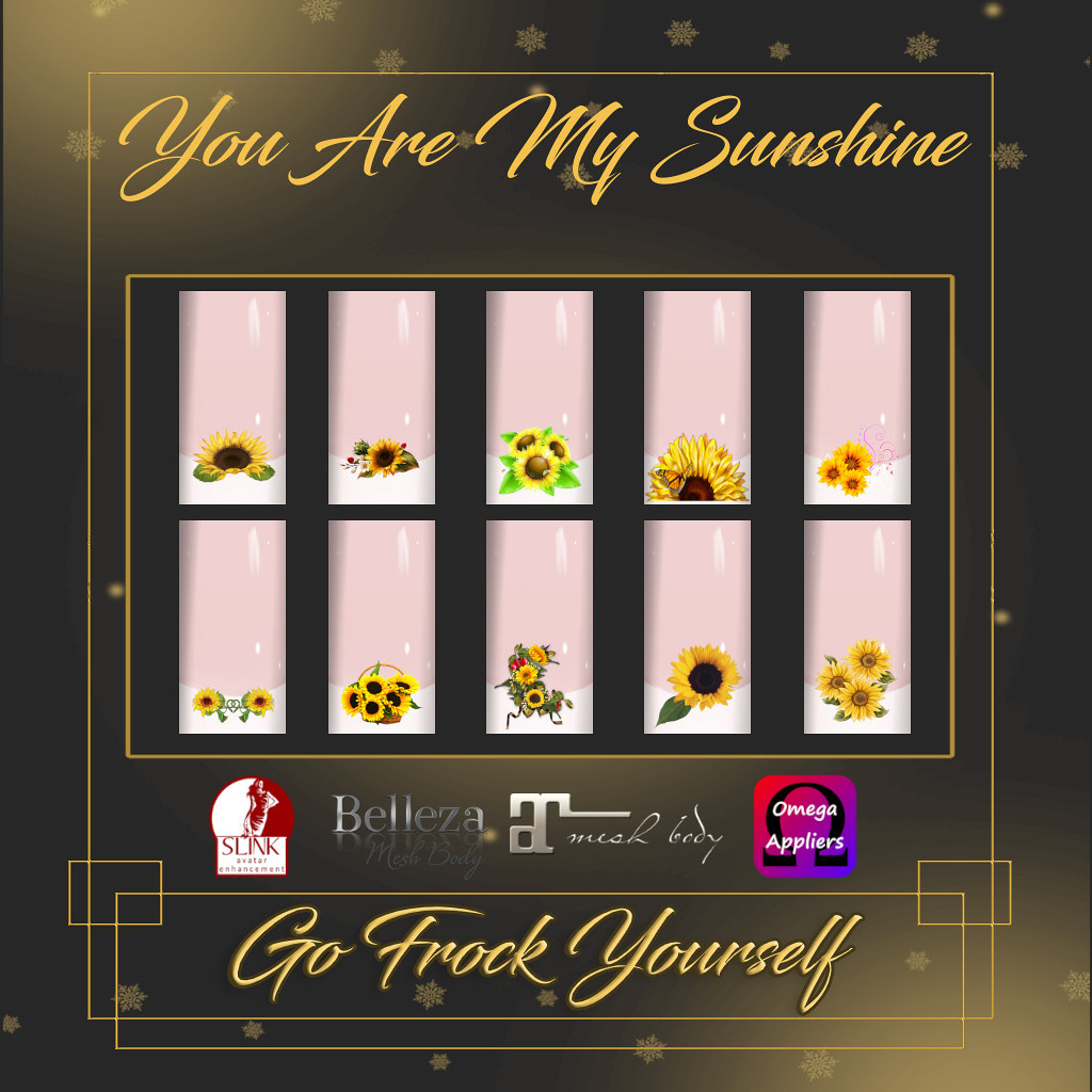 GFY-You Are My Sunshine Nail Appliers