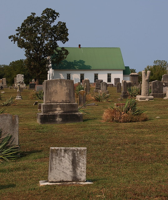 Union Church Viewed from Owsley Union Cemetery - McDonald County, Missouri