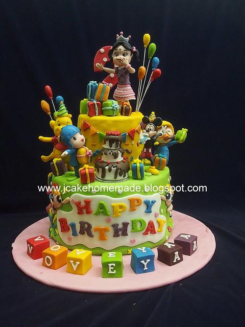 Cartoon birthday cake 卡通生日蛋糕