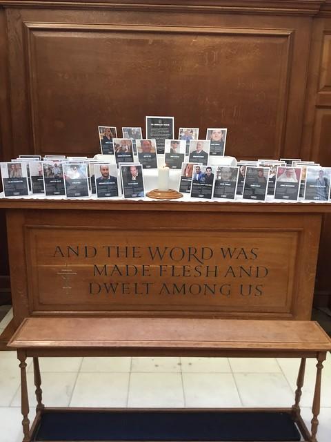 Altar in The Journalists' Church, Fleet Street, London, England