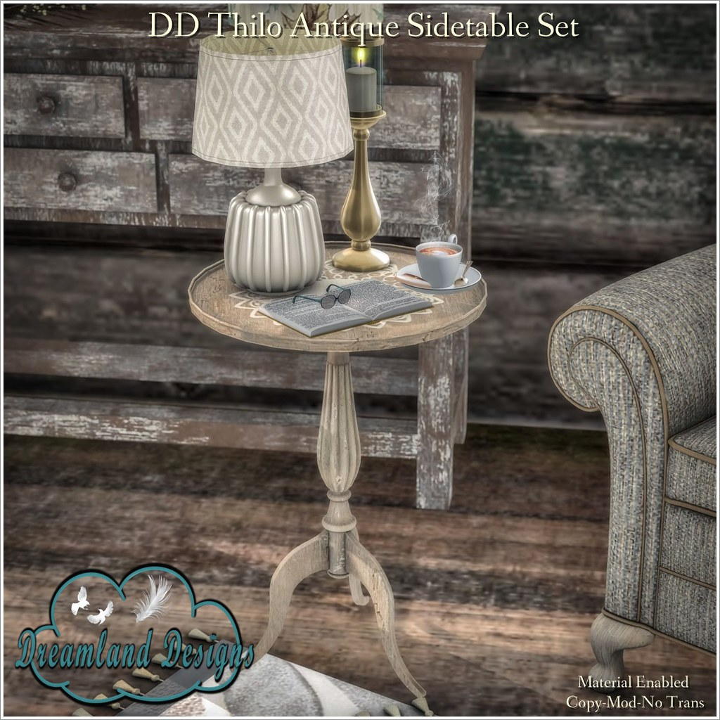 DD Thilo Antique Sidetable Set-AD