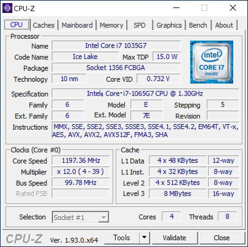 XPS13-9300-CPUZ