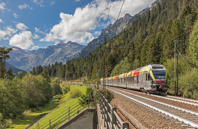 ETR 170 Trenitalia Trentino. Valmigna Brennerbahn