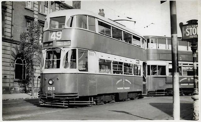 Liverpool tram No. 925
