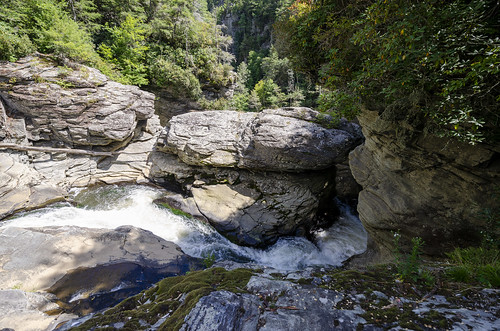 linville falls trail north carolina outdoors hike hiking forest woods river landscape the south