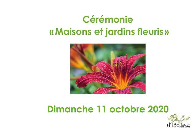 Cérémonies des maisons et balcons fleuris 2020