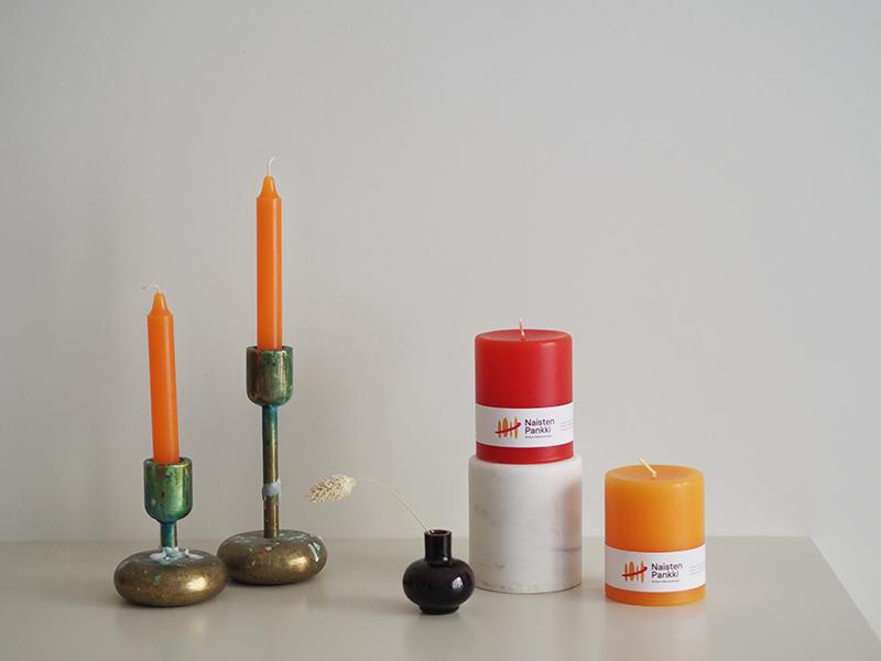 Desico x Naisten pankki kynttilät