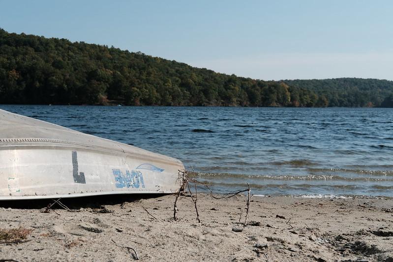 A boat at Lake Taghkanic