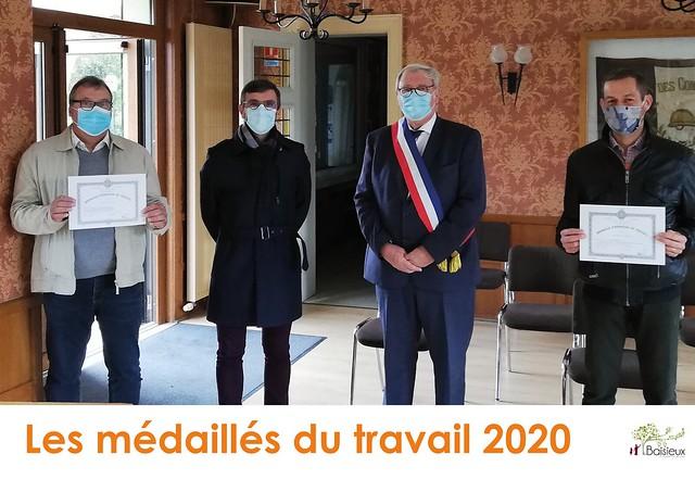 Les médaillés du travail 2020