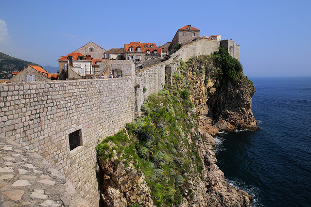 Historical walls of Dubrovnik on a beautiful day