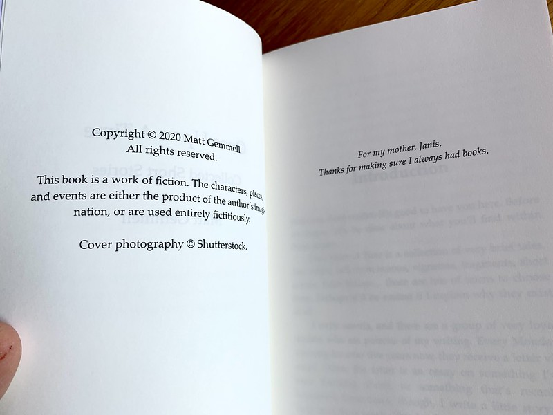 Copyright and dedication