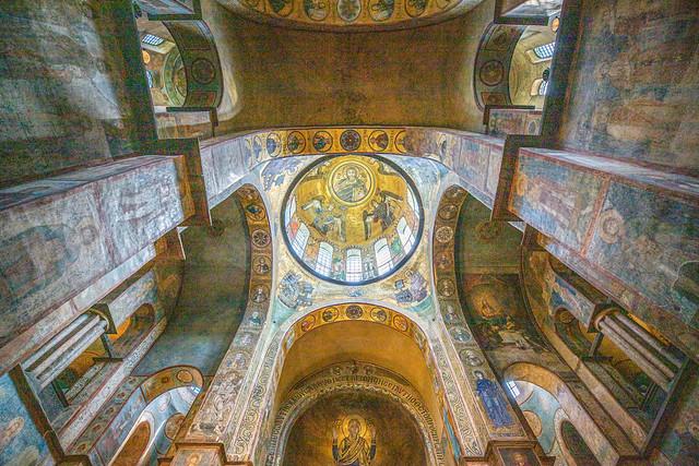 Saint Sophia's orthodox cathedral in Kyiv, Ukraine