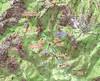 Carte IGN du secteur Carciara-Paliri avec le tracé des travaux de l'operata du 10/10/2020