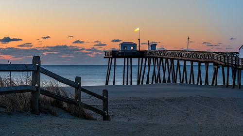 oceancity oceancitynj sunrise dawn beach fishingpier jerseyshore