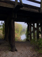 Under the Caney Railroad Bridge