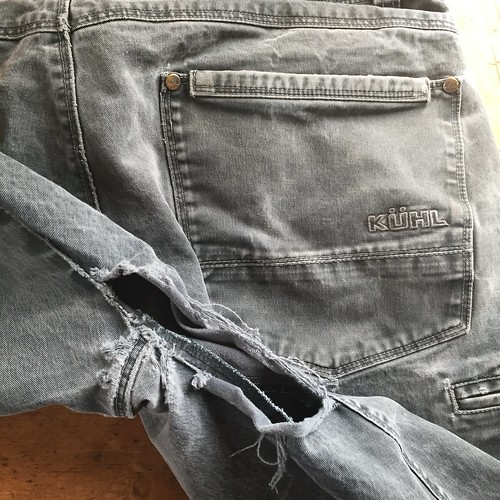 Extensive Repair of Work Pants