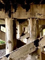 Caney River Railroad Bridge substructure
