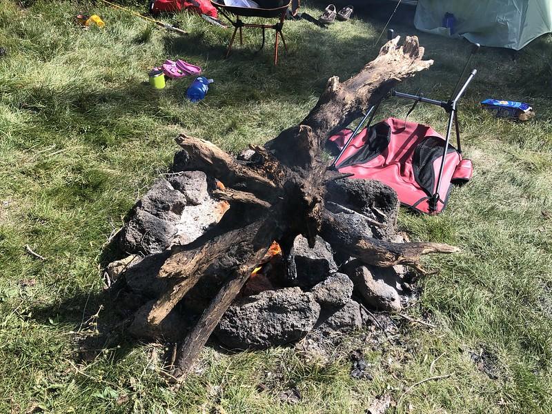 Irresponsible campfire