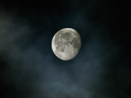 Moon through the clouds | by matthewcameronmckinnon