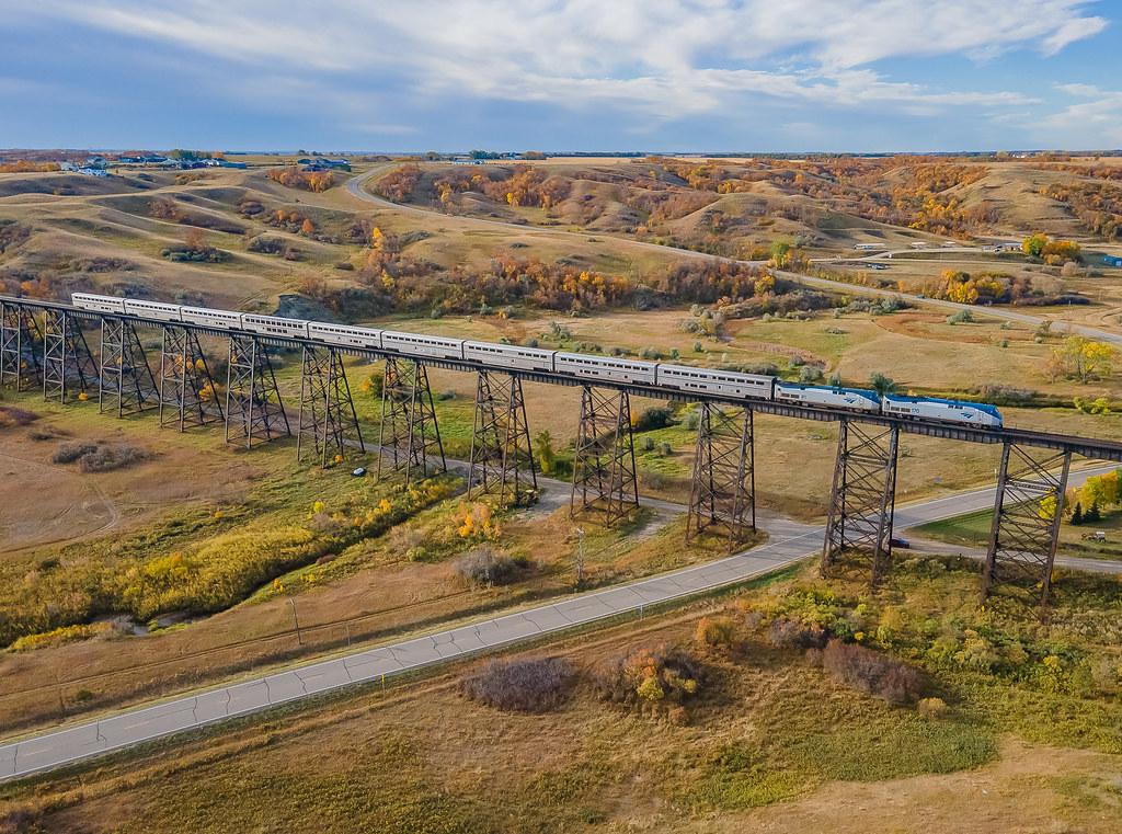 Amtrak Empire Builder Gassman Coulee Trestle Minot, North Dakota