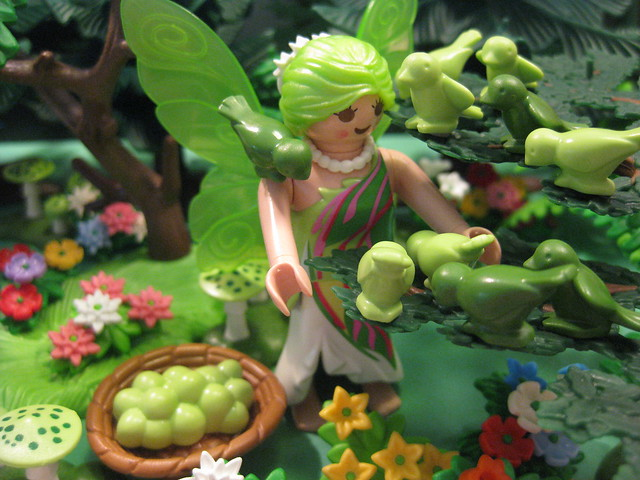 The Green Faerie Thanks the Greenfinches for Their Help