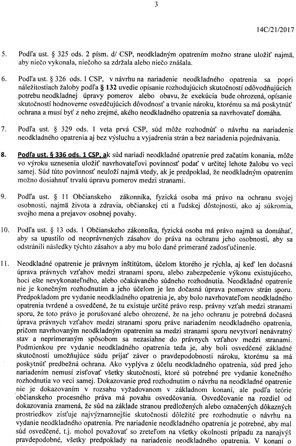 Strana 3 Uznesenia