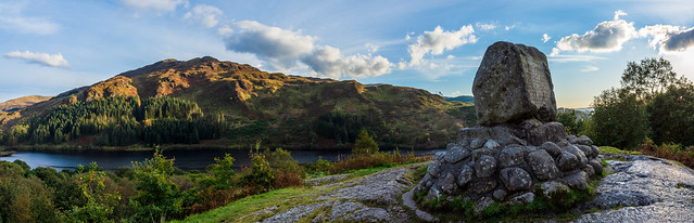 Bruce's Stone, Glentrool, Galloway, Scotland - pano.