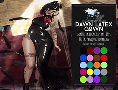::AMF:: Dawn Latex Gown AD