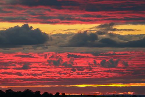 royston uk autumn sunset red england sky clouds evening october unitedkingdom hertfordshire lightroom therfieldheath canoneos750d
