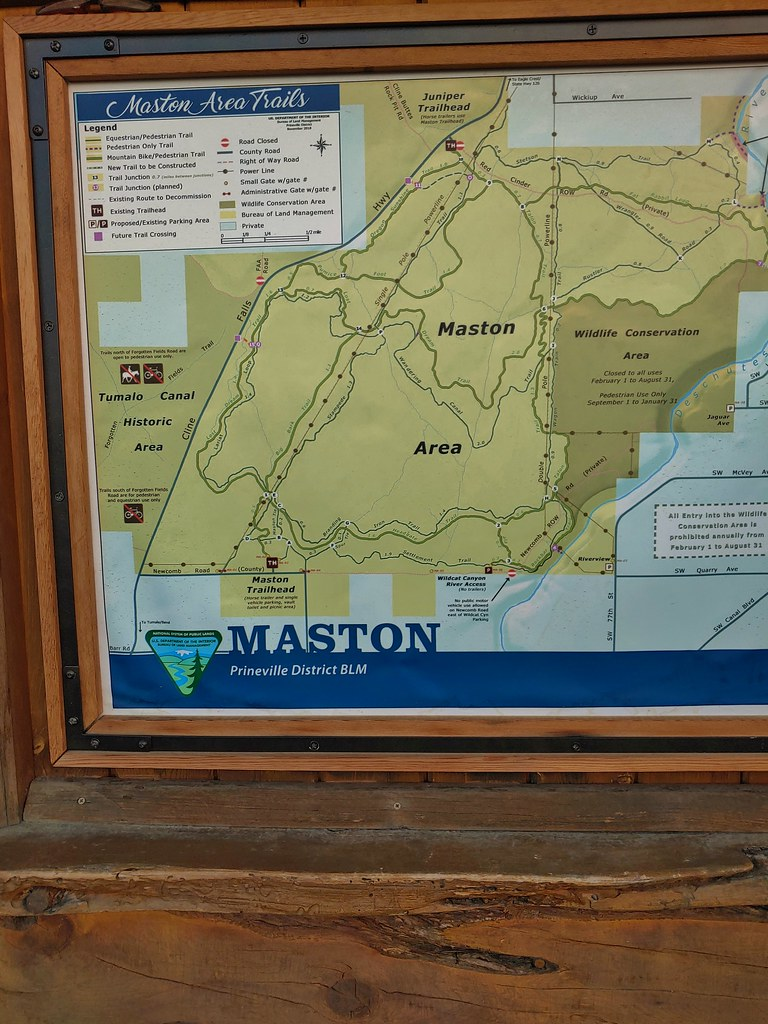 Maston Trailhead map