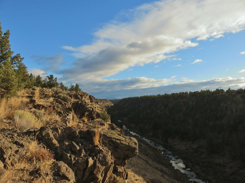 Deschutes River with Grizzly Mountain in the distance