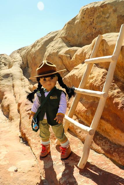 Junior Ranger Inky at Sandstone Bluffs