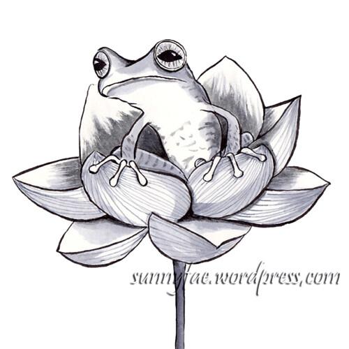 08 lotus & frog