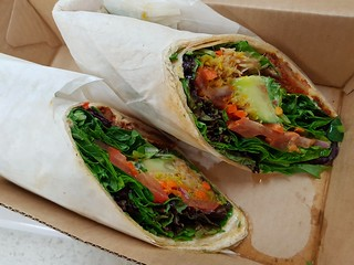 Salad Wrap with Crispy Chicken from The Green Edge